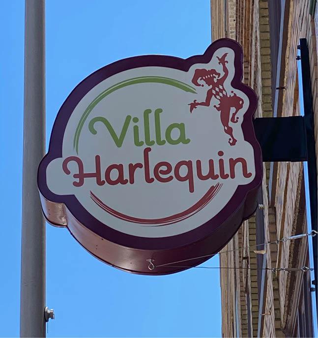 Villa Harlequin Sign