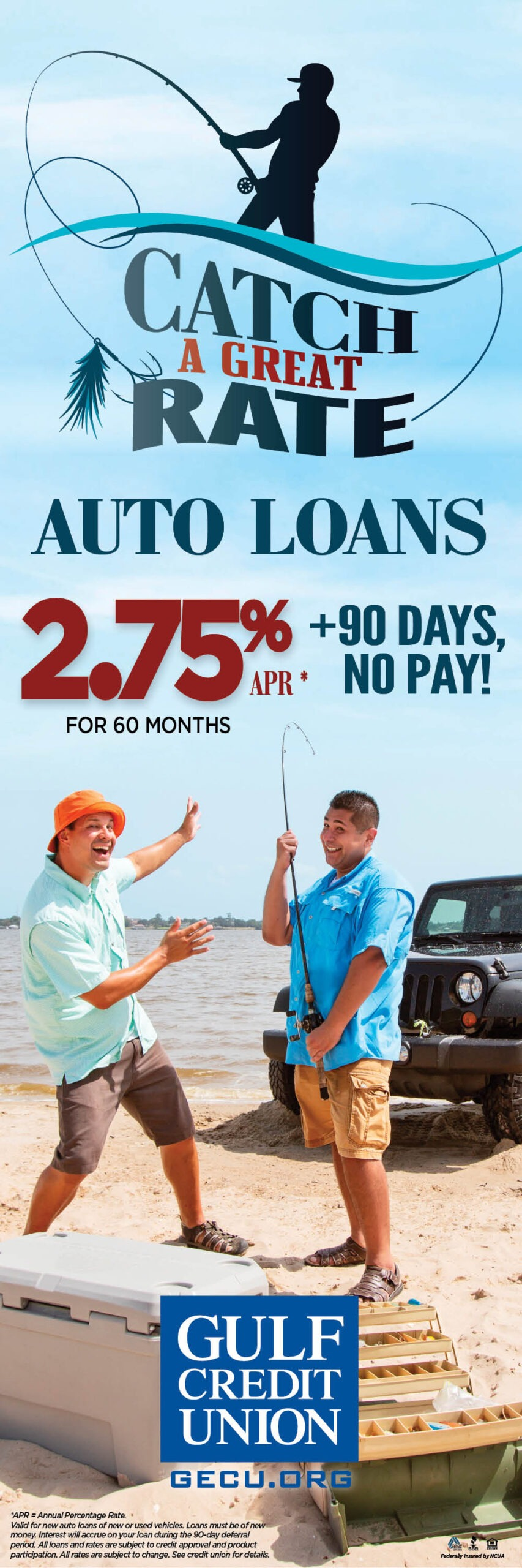 Gulf Credit Union – Catch a Great Rate Campaign