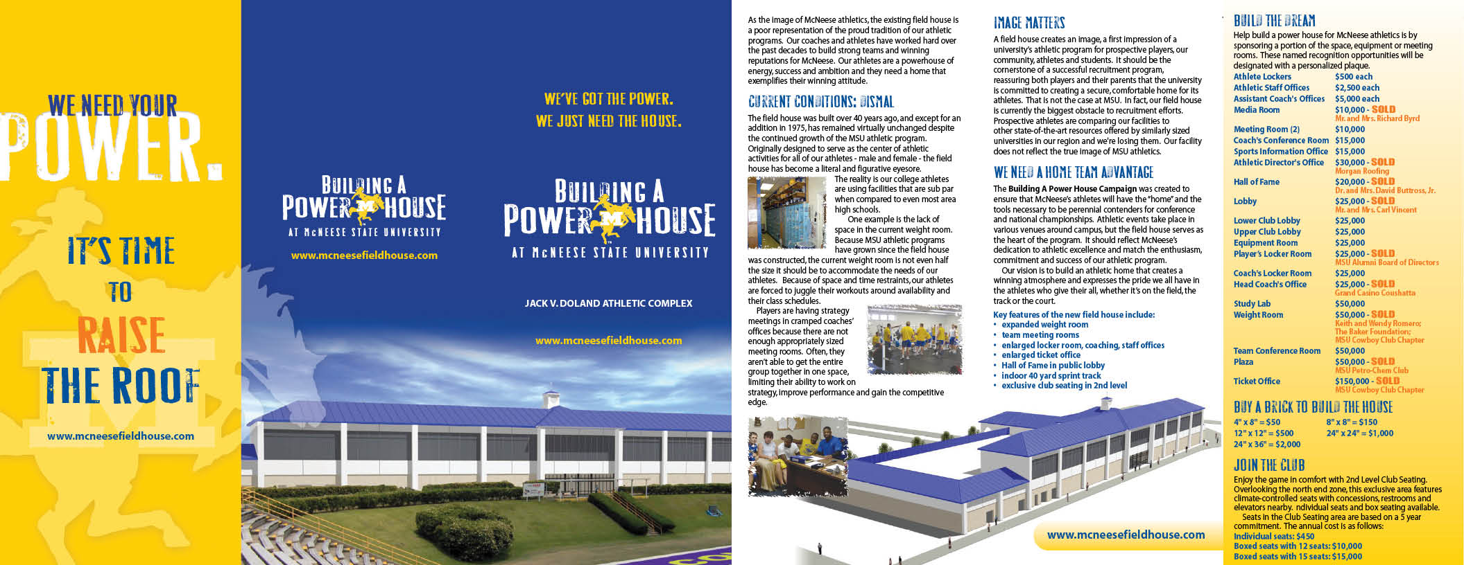 McNeese State University - PowerHouse - Brochure Design