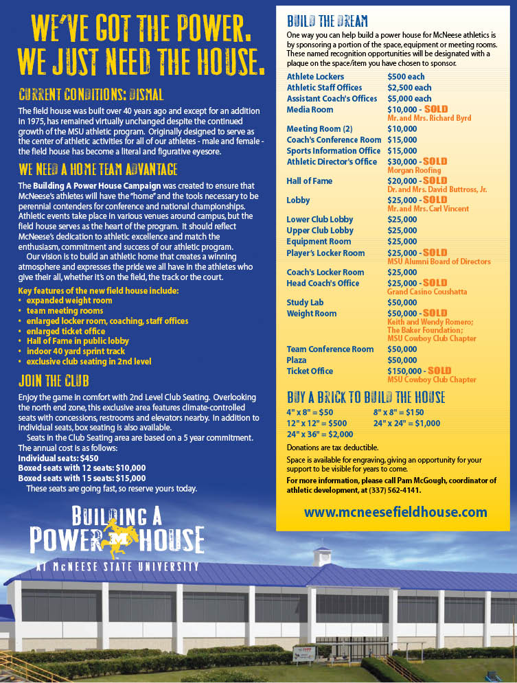 McNeese State University - PowerHouse - Flyer Design